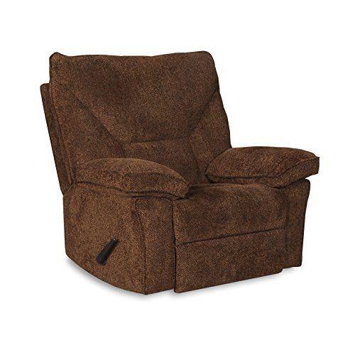 Cheap Rocker Recliner chair w/ optional Swivel Base | Upholstered Rocking & Reclining living space Chair, Reagan-Tan