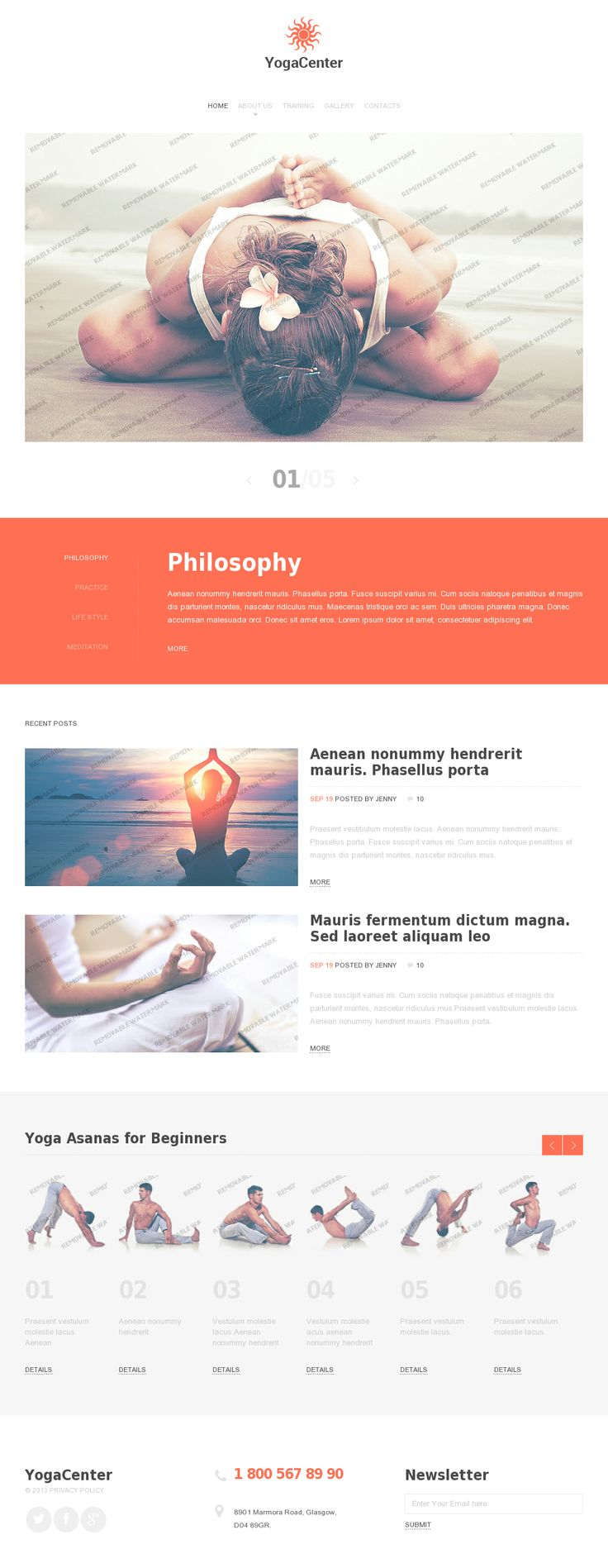 Yoga Center #webdesign