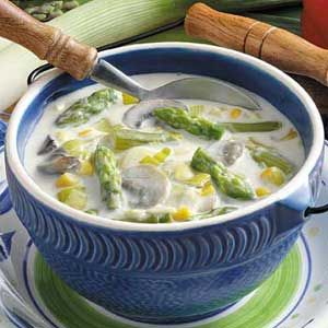 Asparagus Leek Chowder Recipe - my friend, Carol, made this for me and now every spring it is a MUST have tradition!