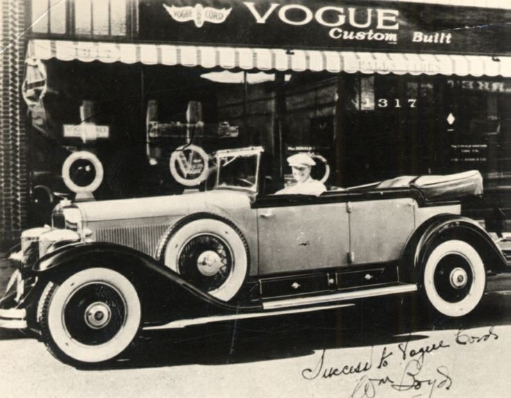 This is a picture of William Boyd who was a famous actor of the 1920's. This is in front of our LA store in 1926.