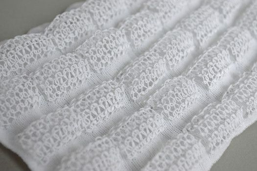 Innovative Knitting - structural knit sample with 3D-printed plastic for contrast & texture // Laura McPherson #textiles
