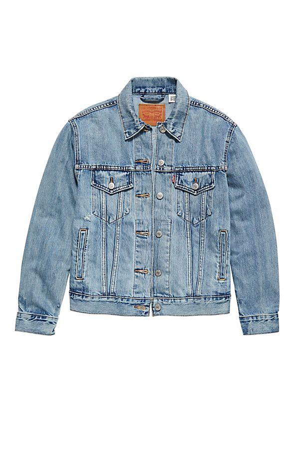 Levi´s ® Damen Jeansjacke Jacke Cut Off Crop Trucker Zip