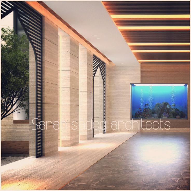 Interior private villa kuwait sarah sadeq architects for Modern house design kuwait