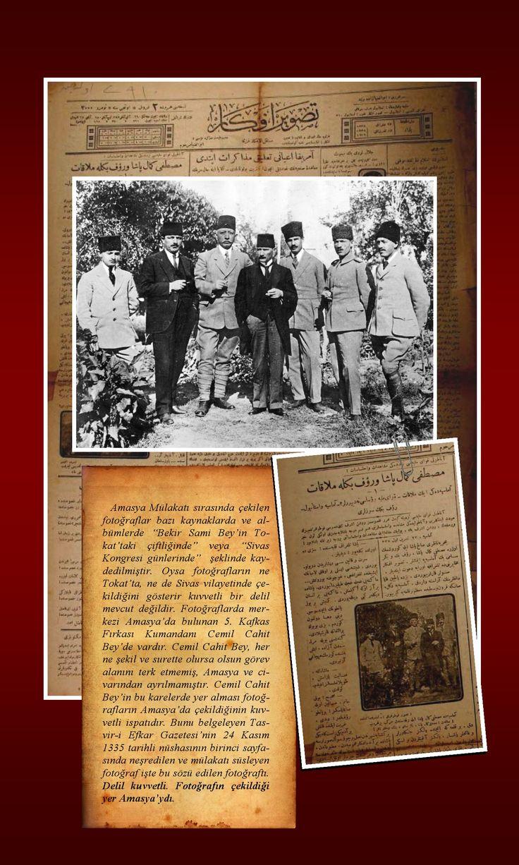 Sivas Kongresi sırasında çekilmiş olduğu yazılan bu fotoğraf Sivas'ta değil Amasya'da çekilmiştir. İşte belgeler