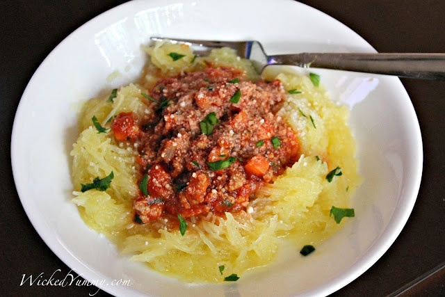 Spaghetti Squash with Meat Sauce | Food | Pinterest