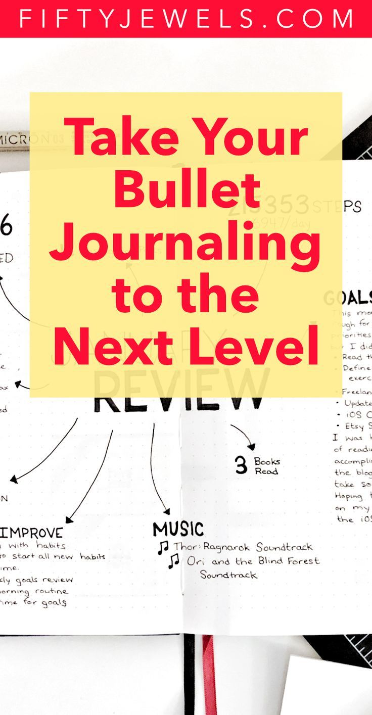 Bullet Journal - Use this handy Cheat Sheet of great ideas to take your Bullet Journaling to the next level!