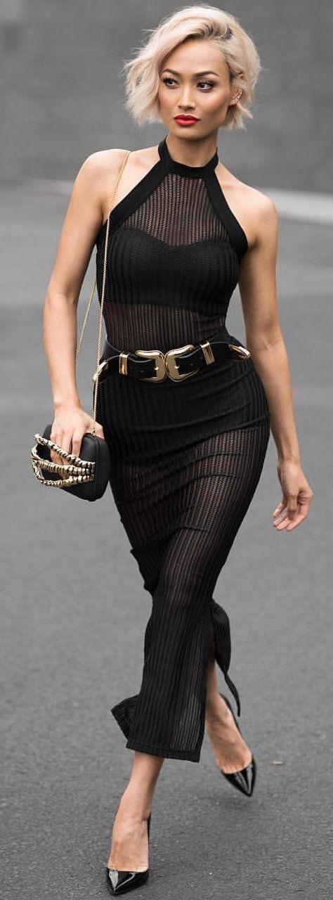 #fall #style #looks Black Maxi Dress