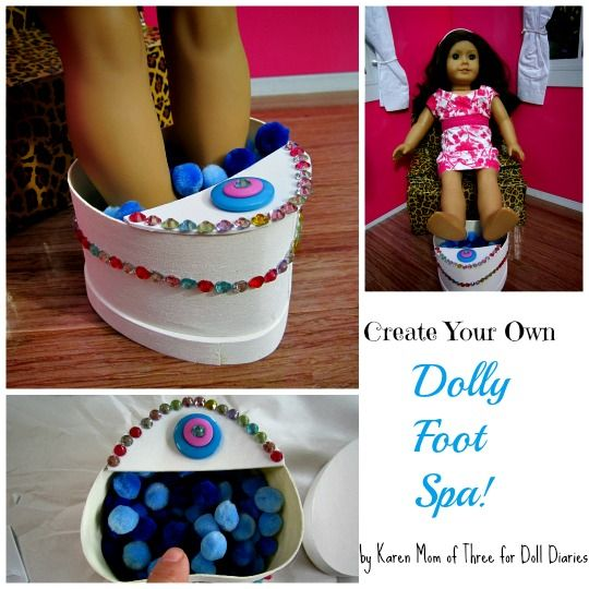 Doll Craft Make A Doll Sized Foot Spa Doll Diaries American
