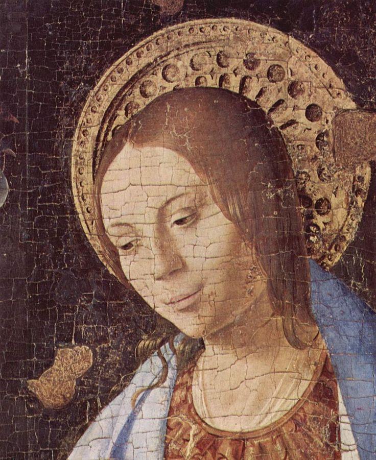 Annunciazione - Antonello da Messina, 1474, olio su tavola, 180×180 cm, Museo di Palazzo Bellomo, Siracusa https://it.wikipedia.org/wiki/Annunciazione_(Antonello_da_Messina) [detail] (836×1024)