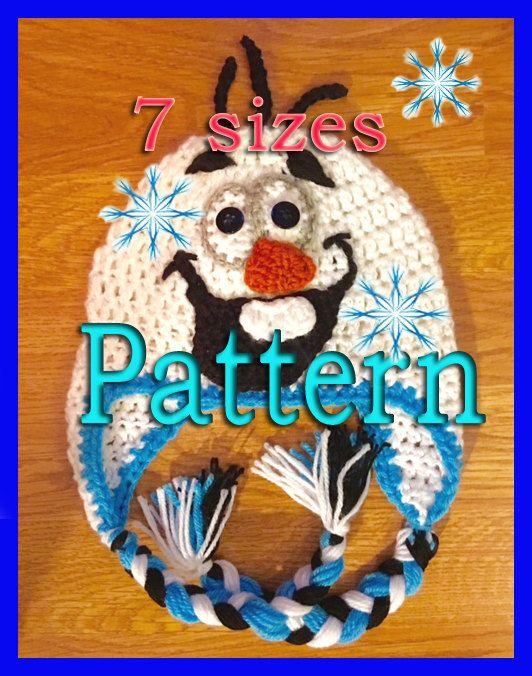 Frozen Olaf Crochet Hat Pattern Disney movie by LoveCareHandmade