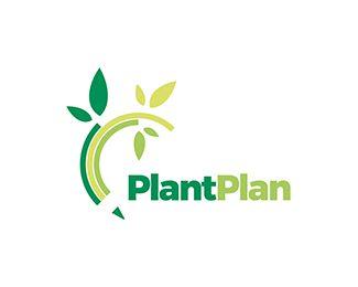 PlantPlan Logo Design: Garden, Plant, Design, Landscaping, Interior Design