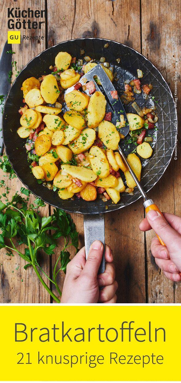 Ob klassisch, mediterran oder indisch – wir zeigen dir 21 knusprige Rezepte für #Bratkartoffeln.