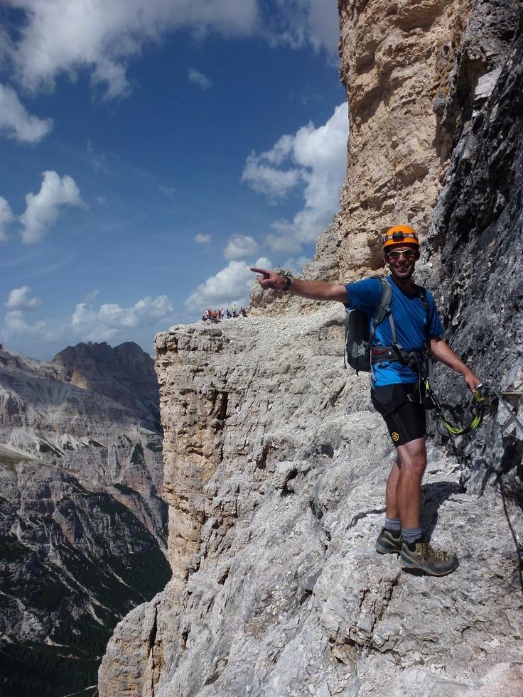 Dolomites Via Ferrata, near Cortina, Italy, 2012 #greatwalker