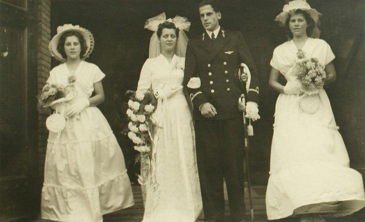 Huwelijk Herman Luiken en Corry Bak | Zuiden, Het Fotopersbureau | Stadsarchief 's-Hertogenbosch | CC BY-SA