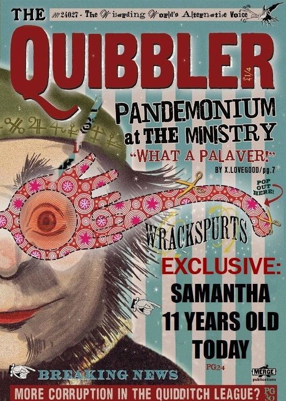 PERSONALISED THE QUIBBLER BIRTHDAY CARD XENOPHILIUS ...Quibbler Printable