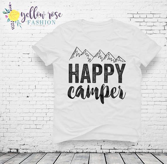 Happy Camper Shirt Mountains Camp Shirt Lake Shirt Weekend