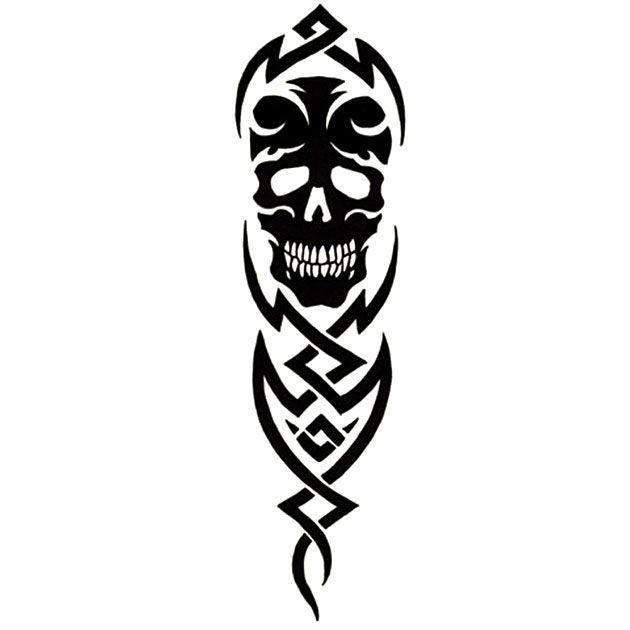 Tatuaż czaszka - tribal na ramię dla faceta, bardzo mi się podoba ;-)) http://www.wzorytatuazy.net/tatuaz/539_totem_czaszka.html #tatuaz