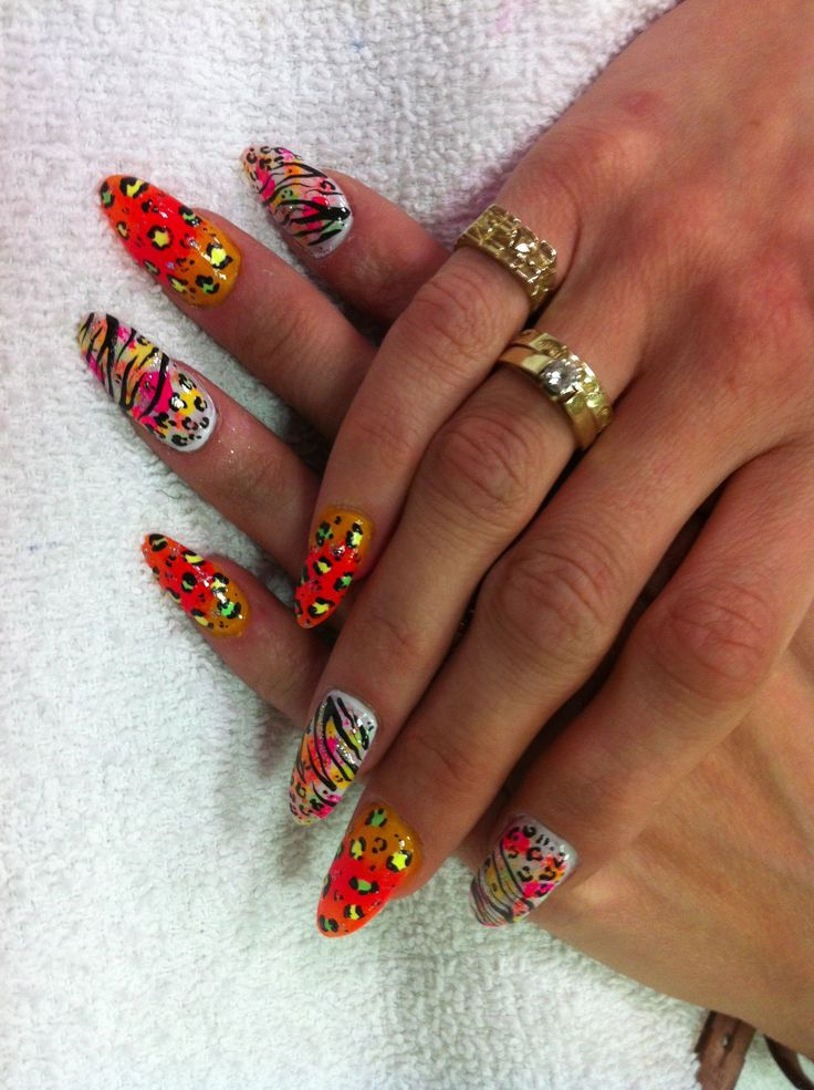 11 best nail designs images on pinterest beauty nail designs zebra and cheetah print multi colored ombr effect nail designs nails manicures prinsesfo Image collections