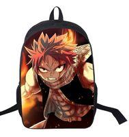 16 Inch FAIRY TAIL Backpack For Teenagers Girls Boys School Bags Natsu Dragneel Daily Backpack Erza Scarlet Backpacks Kids Bag