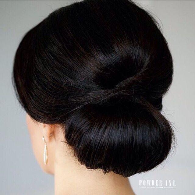 Weddinginspiration Clean Sleek Chignon Updo From Powderincmakeup Long Hair Styles Hair Styles Bridesmaid Hair