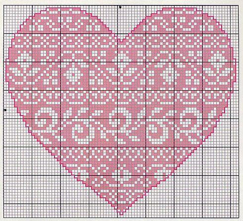 Gallery.ru / Фото #22 - Monocromatico - Blackwork - mantecada  Folklore Heart chart 2