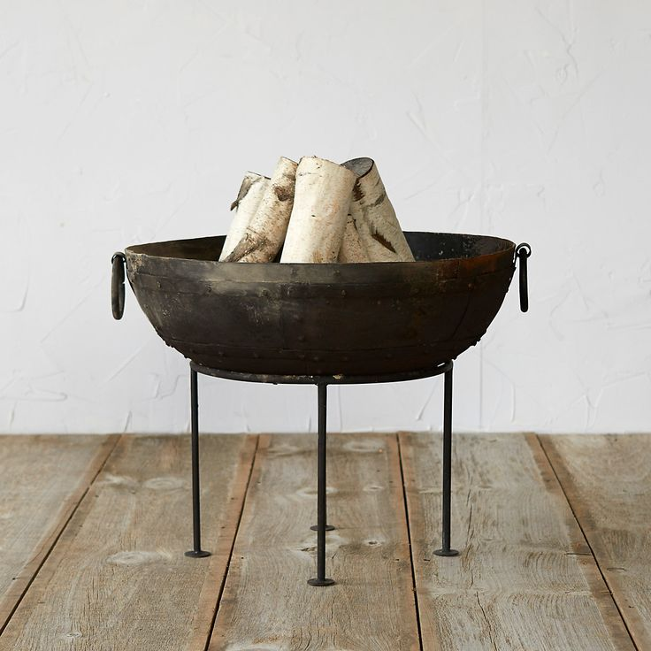 Iron Pedestal Fire Pit in New Outdoor Living at Terrain