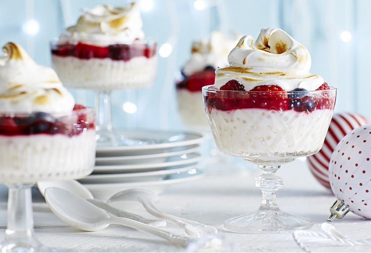 Crack the crust and dig for pearly treasure of the fruity kind. Using sago pearls makes this decadent dessert (perfect for Christmas) gluten-free.