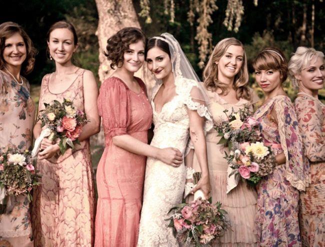 Blomstrede brudepigekjoler / floral bridesmaid dresses