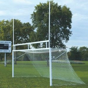 Bison Optional European Backstays For Combination Football / Soccer Adds a 4' top depth to the goals. Goals are factory prepped for mounting with 3 bolts. White powder-coated finish. Each set includes (2) backstays for 1 goal.