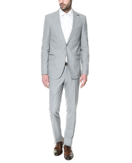 Image 1 of LIGHT GREY SUIT from Zara