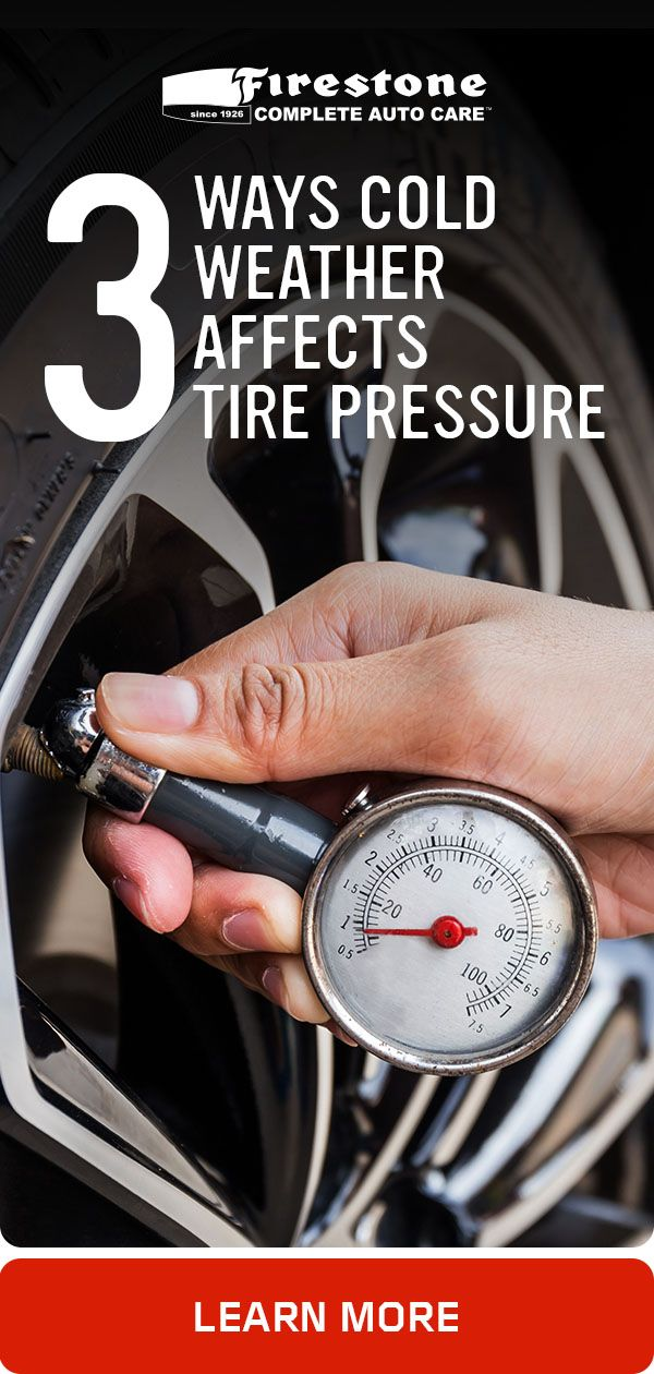 Cold Weather Can Lower Tire Pressure And Low Tire Pressure Can