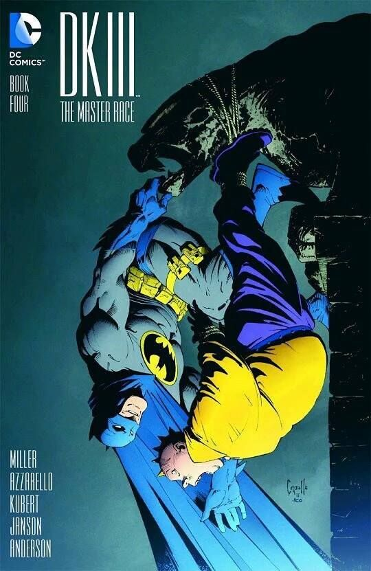The look on Batman's face! XD The Dark Knight III Book Four by Greg Capullo…