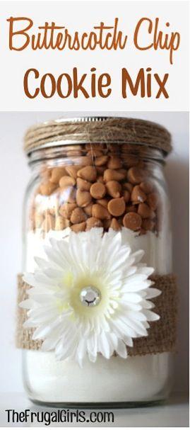Butterscotch Chip Cookie Mix in a Jar