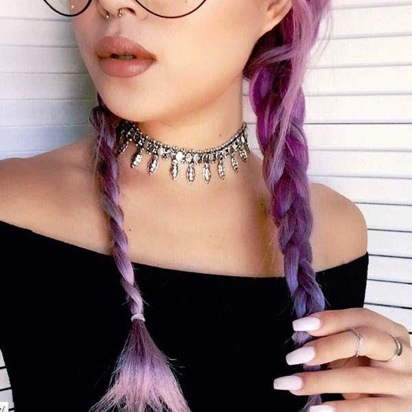 cabelo-rosa-choker-prateada