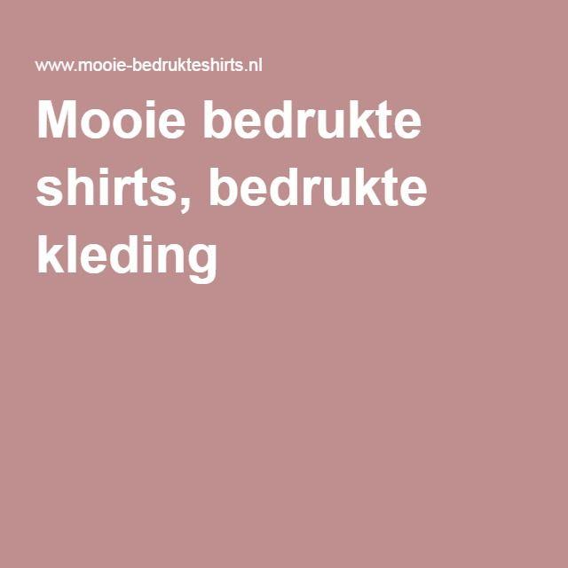 Mooie bedrukte shirts, bedrukte kleding