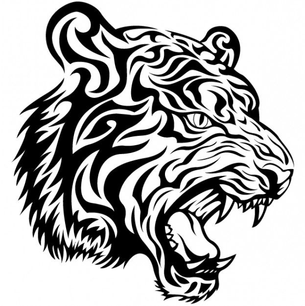 Tigre tribal vector | Descargar Vectores gratis