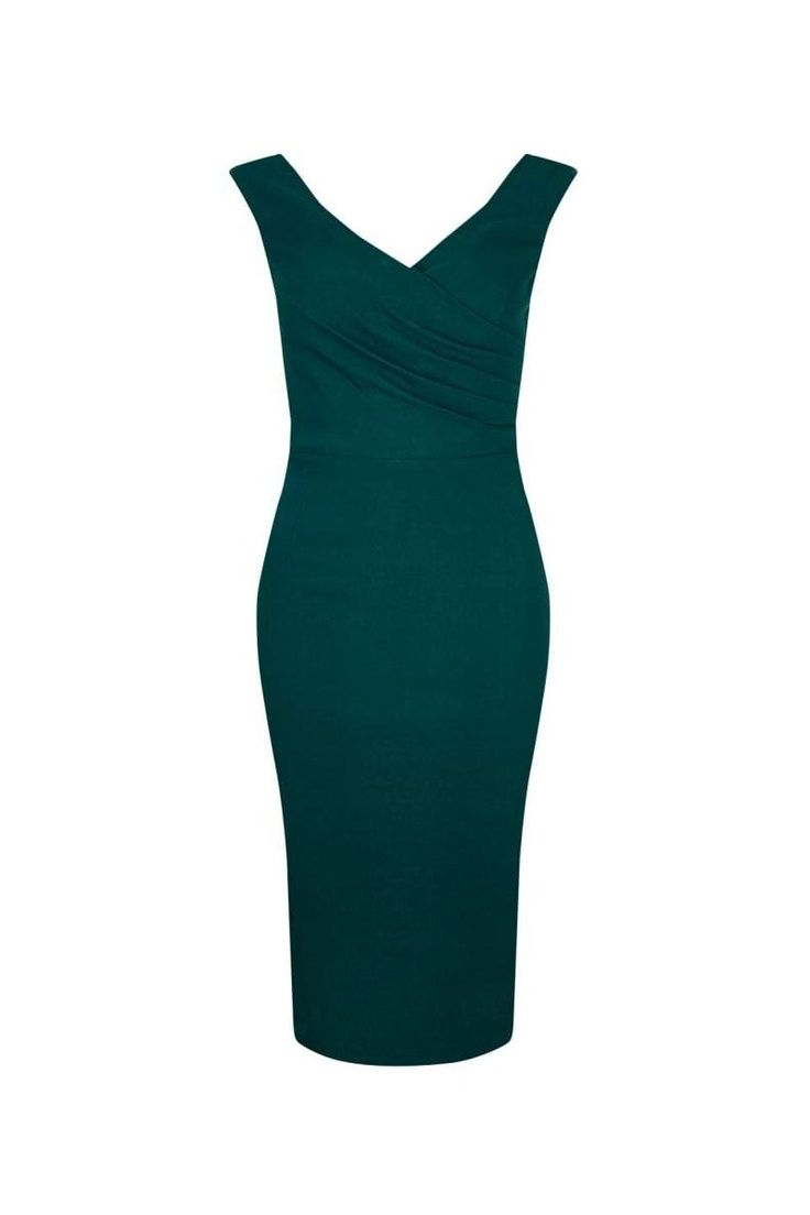 Collectif Vintage Teal Green Wiggle Dress