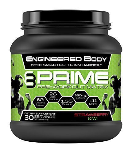 Engineered Body PRIME Natural Pre Workout Supplement for Men and Women - Best Nitric Oxide Booster - Increased Energy - Top Fat Burner - 30 Servings 585 Grams - Creatine Free - Strawberry Kiwi >>> Click image to review more details. #vitaminD #tagforlikes #followback #animals #F4F #tagforlikes #vitaminD