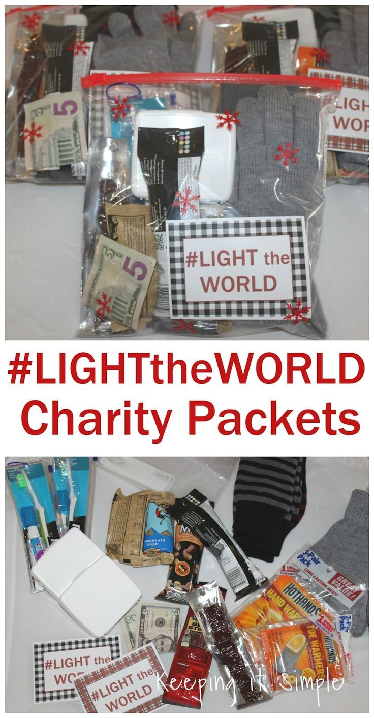 Blessing Bags And Charity Packets Lighttheworld Keeping It Simple Charity Work Ideas Blessing Bags Charity Project