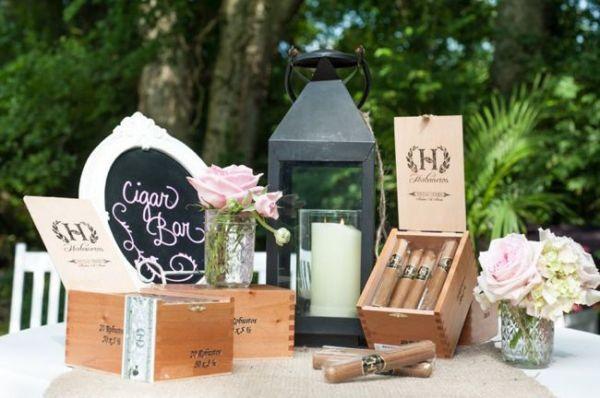 Cigar Bar (we'd do this with bourbon though). #cedarwoodweddings