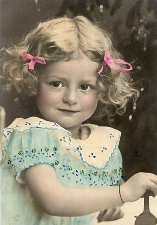 Little Madam Real Tinted Picture Postcard