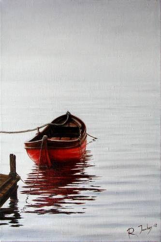 Картины (живопись) : Красная лодка