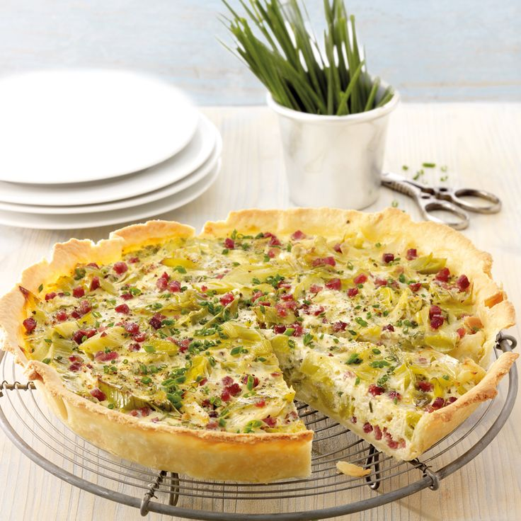 Lauch-Käse-Quiche mit Schinken Rezepte | Weight Watchers