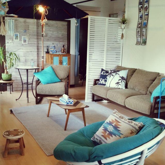 kimさんの、さわやか でも冷たすぎないように,ハワイも好き,和ビーチスタイル,starfish,West coast,sea,BEACH STYLE,和ビーチハウス,流木ちっとも落ちてない,かべがみや本舗さん,日本家屋,古民家,フォローして頂きありがとうございます!,いつもいいねありがとうございます♡,リビング,のお部屋写真