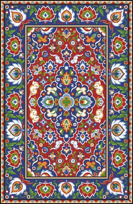 Oriental Vintage Floral Rug 1 Adaptation by MyTreasureIsland