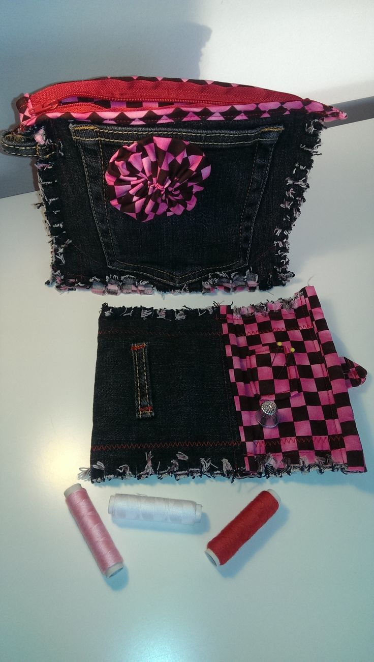 Recyklované džínsy - Kozmetická taštička