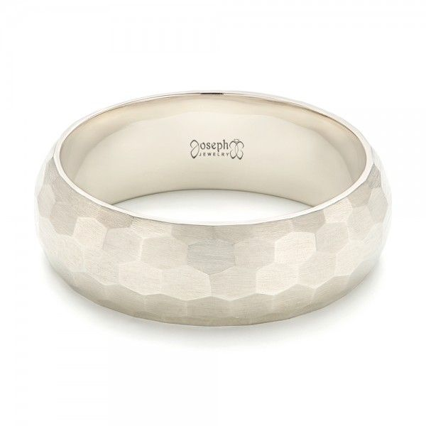 This elegant men s wedding ring features a pattern of hexagons all the way  around the unplated white gold band  with a brushed finish on top 24 best Art Carved mens rings images on Pinterest   Art carved  . Design Your Own Mens Wedding Ring. Home Design Ideas