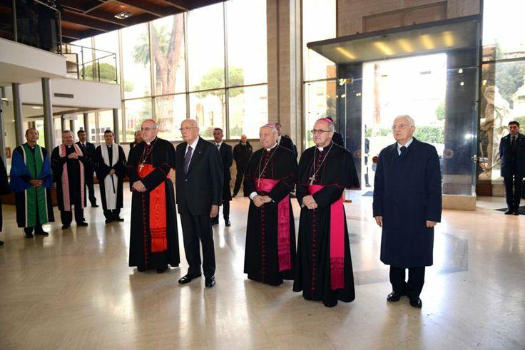 Visita ufficiale alla Pontificia Università Lateranense