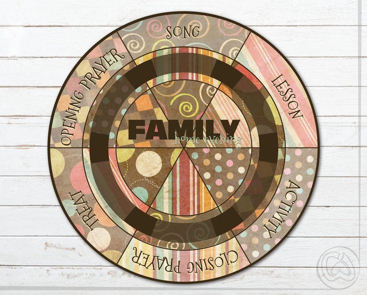 Family home evening job wheel fhe responsibilities wheel