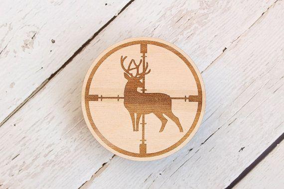 Crosshair Drink Coasters Buck Drink Coaster by DownInTheBoondocks